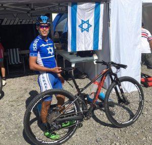 שלומי חיימי באליפות העולם 2016 מילום איגוד האופניים